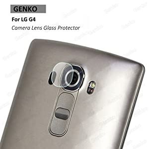 Genko-2 Pieces High Definition Ultra Thin Transparent Clear Camera Protector Lens Tempered Glass For LG G4