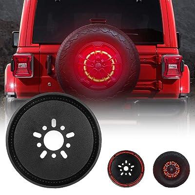 Spare Tire Brake Light LED 3rd Third Brake Light Wheel Light for 2020 2020 Jeep Wrangler JL JLU Tail Light Rear Light: Automotive