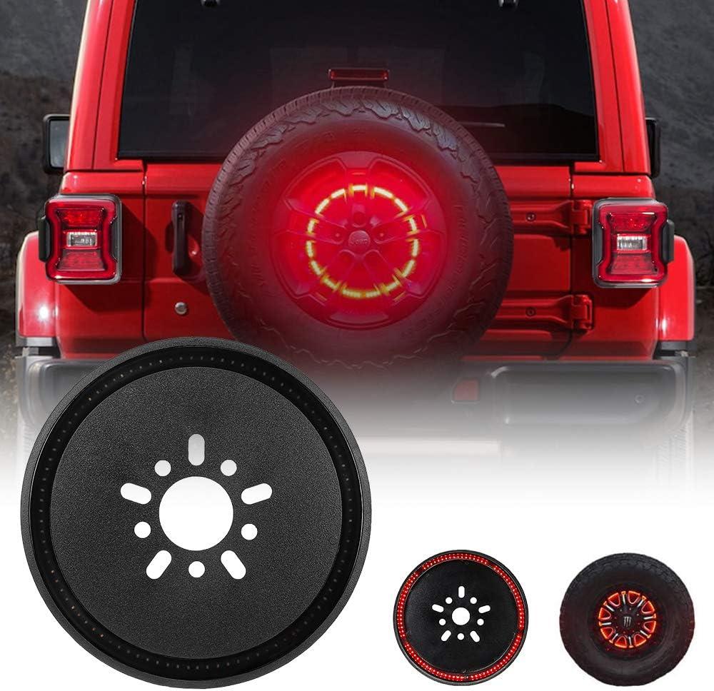 Wrangler 3rd Brake Light Red for Spare Tire Jeep LED Brake Lights 25 LEDS Jeep Wrangler Spare Tire Brake Light