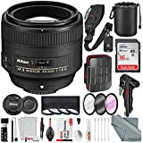 Nikon AF-S NIKKOR 85mm f/1.8G Medium Telephoto Lens and Platinum Bundle with Xpix Professional Accessories + 16GB + More
