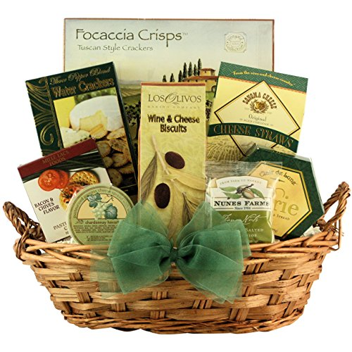 GreatArrivals Gift Baskets Tempting Cheese Delights Small Gourmet Cheese Gift Basket by GreatArrivals Gift Baskets