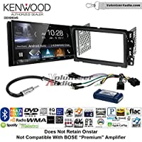Volunteer Audio Kenwood DDX9904S Double Din Radio Install Kit with Apple CarPlay Android Auto Bluetooth Fits 2013-2014 Buick Enclave, 2013-2014 Chevrolet Traverse (Bose and Onstar)