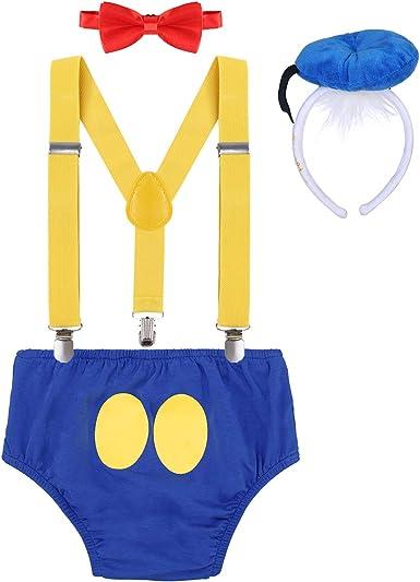 Disfraz de Pato Donald Infántil Bebé Niños Niñas Lindo Ratón 1er ...