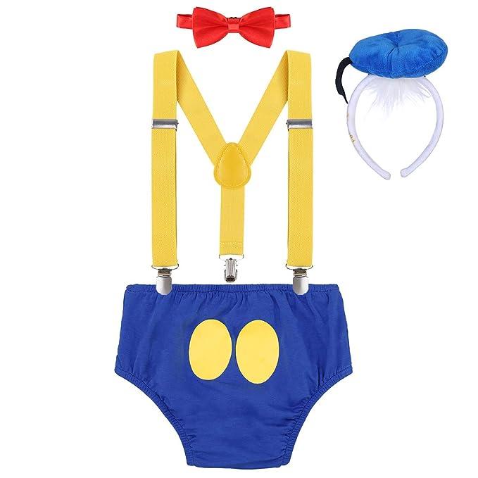 3624c925e Disfraz de Pato Donald Infántil Bebé Niños Niñas Lindo Ratón 1er 2do 3er  Cumpleaños