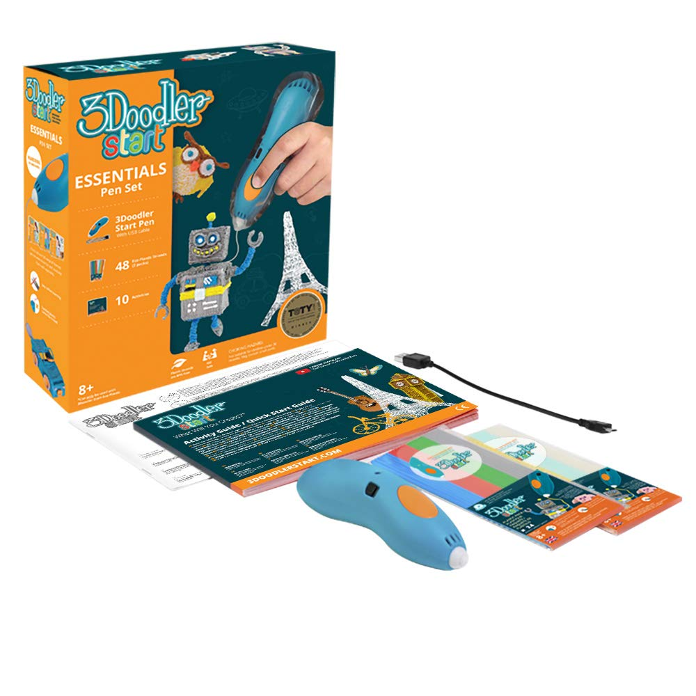 3Doodler Start Essentials 3D Pen Set For Kids with Free Refill Filament - STEM Toy For Boys & Girls, Age 6 & Up - Toy of The Year Award Winner by 3Doodler