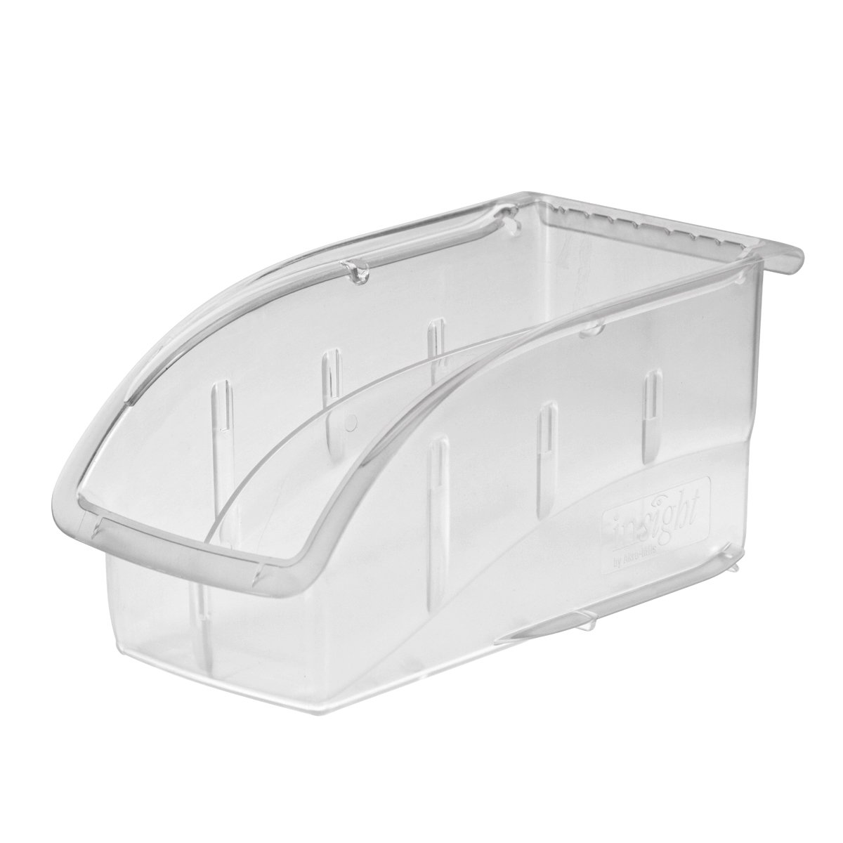 Akro-Mils 305B1 Insight Ultra-Clear Plastic Hanging and Stacking Storage Bin, 10-7/8-Inch Long by 5-1/2-Inch Wide by 5-1/4-Inch Wide, Case of 12
