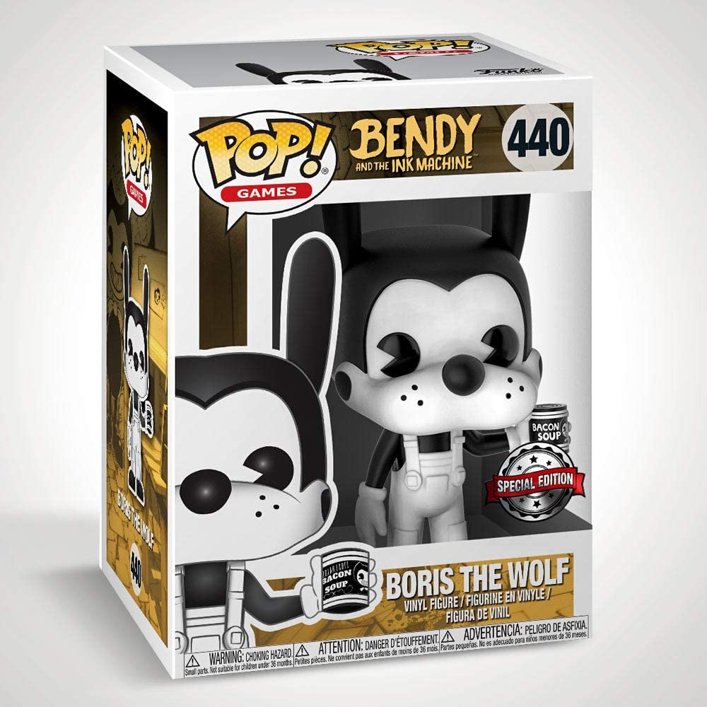 Pop Bendy /& The Ink Machine Boris The Wolf Figurine en vinyle /Édition sp/éciale