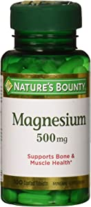 Nature's Bounty Magnesium 500 mg Tablets 100 ea