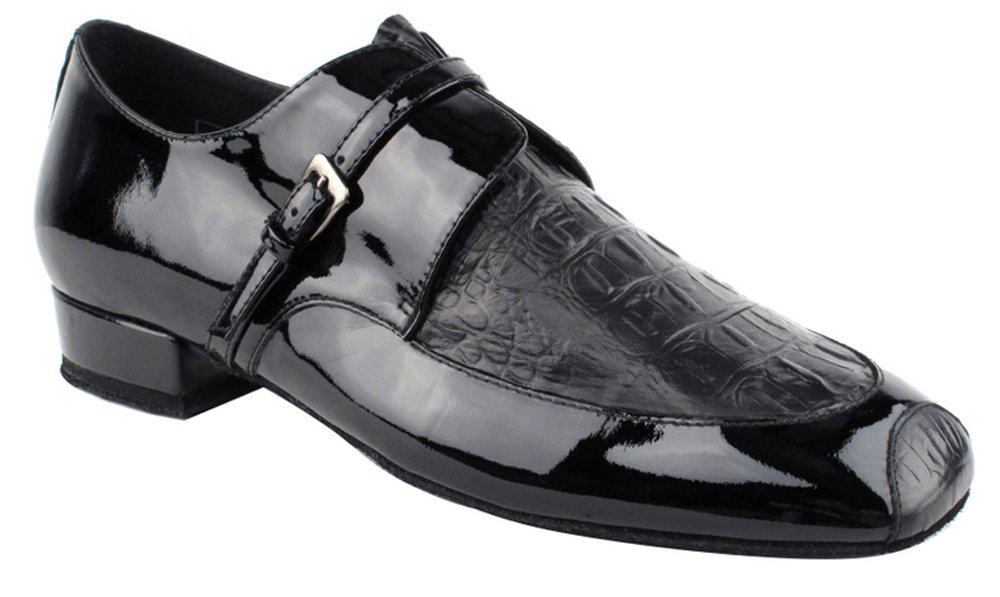 Very Fine Shoes Men's Standard & Smooth Competitive Dancer Series CD9003B Black Patent (9)