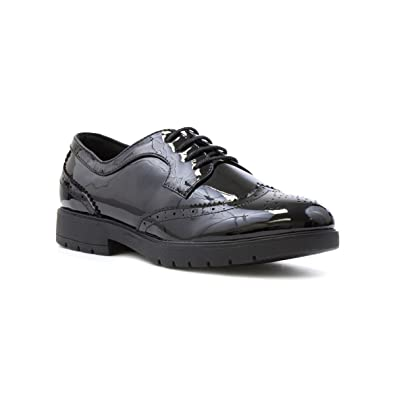 4949bc86c0974 Lilley Womens Black Patent Brogue Shoe  Amazon.co.uk  Shoes   Bags