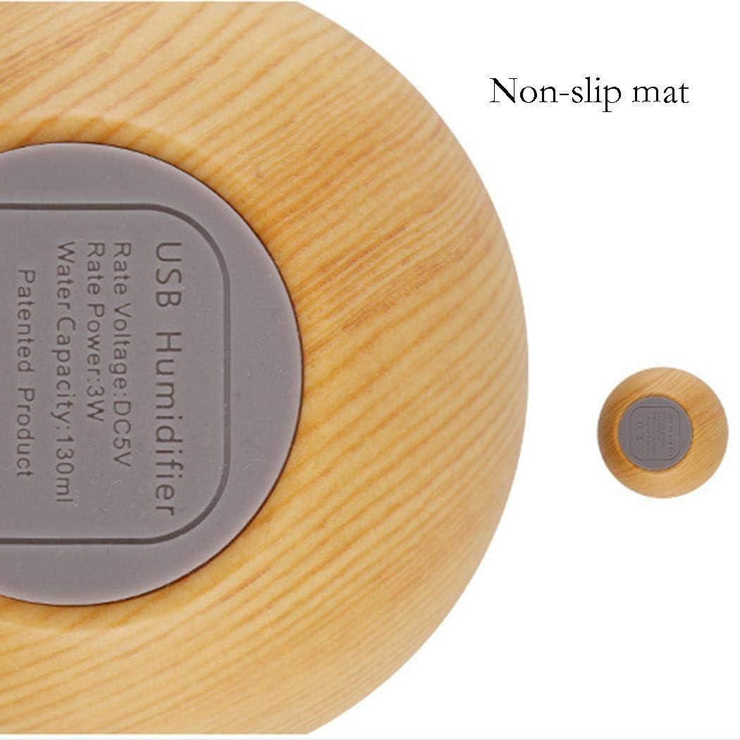 pioleUK Purificateur dair dhumidificateur de Brouillard dhuile de diffuseur dhuile Essentielle darome /à la Maison de Bureau de Grain en Bois Humidificateurs