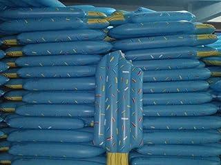 Rrock Adulto Helado Flotante Anillo De Nadar Aumento Engrosamiento Anillo De Vida Inflable Flotante Cama Flotante Dos Colores,Blue