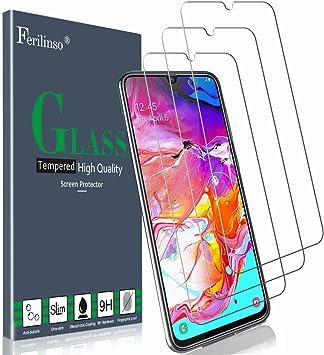 Ferilinso Cristal Templado para Samsung Galaxy A70S,A70 Protector ...