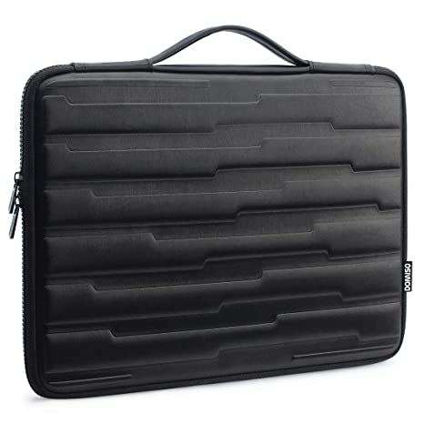 DOMISO 13.3 Inch Shock Resistant Laptop Sleeve with Handle Protective Case Compatible with Apple 13