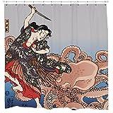 Sharp Shirter Battling The Octopus Shower Curtain