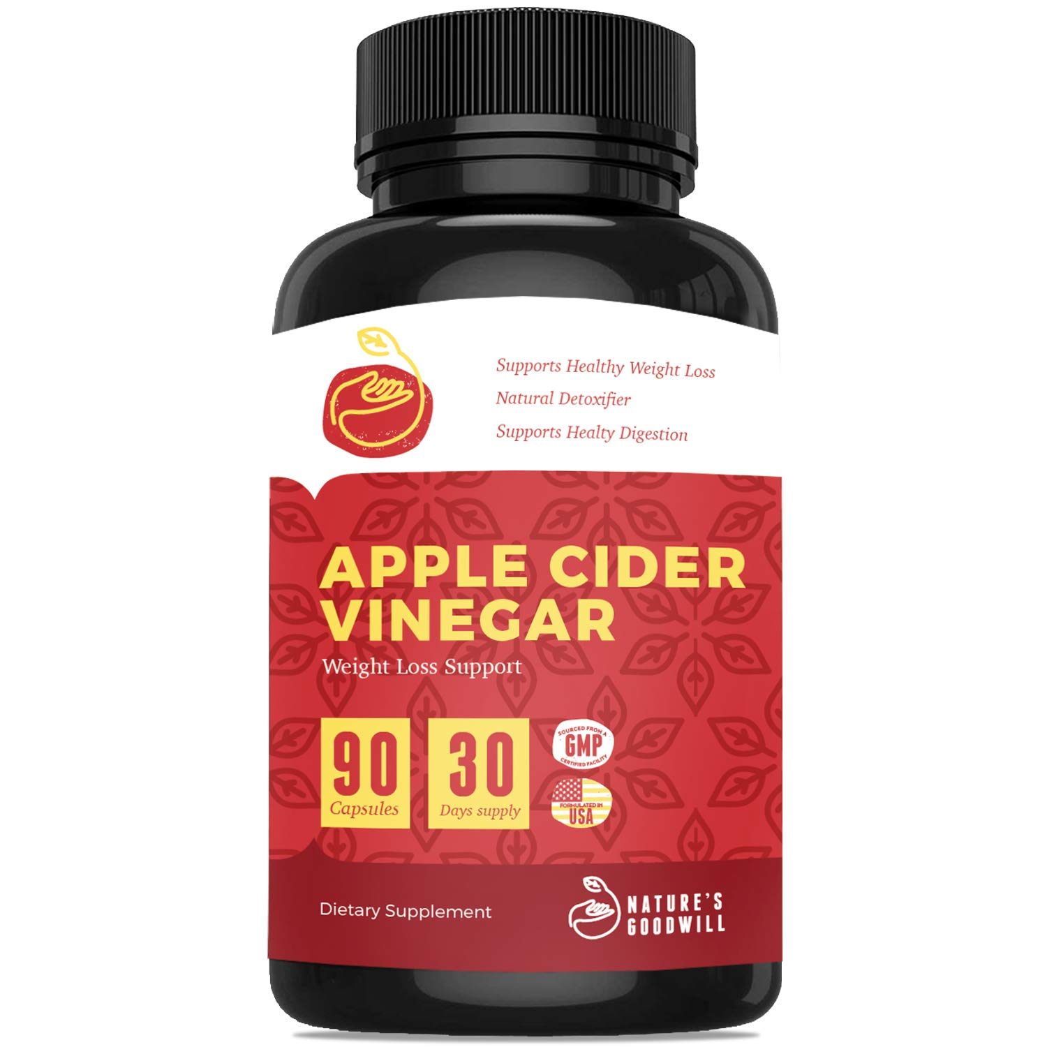 Apple Cider Vinegar Pills for Weight Loss | All Natural Detox Cleanse Weight Loss, Appetite
