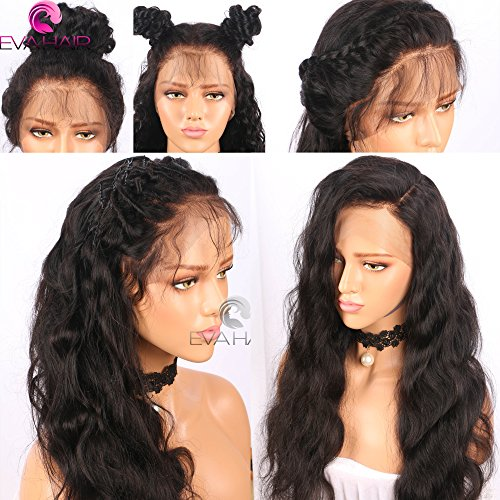 13x6 Lace Front Human Hair Wigs for Black Women Pre plucked Brazilian Virgin Hair 150 density Lace Front Wig Glueless Body Wave Front Lace Wigs with Baby Hair (14 Inch,150 density,13x6 Lace Front Wig) by EVA HAIR (Image #6)