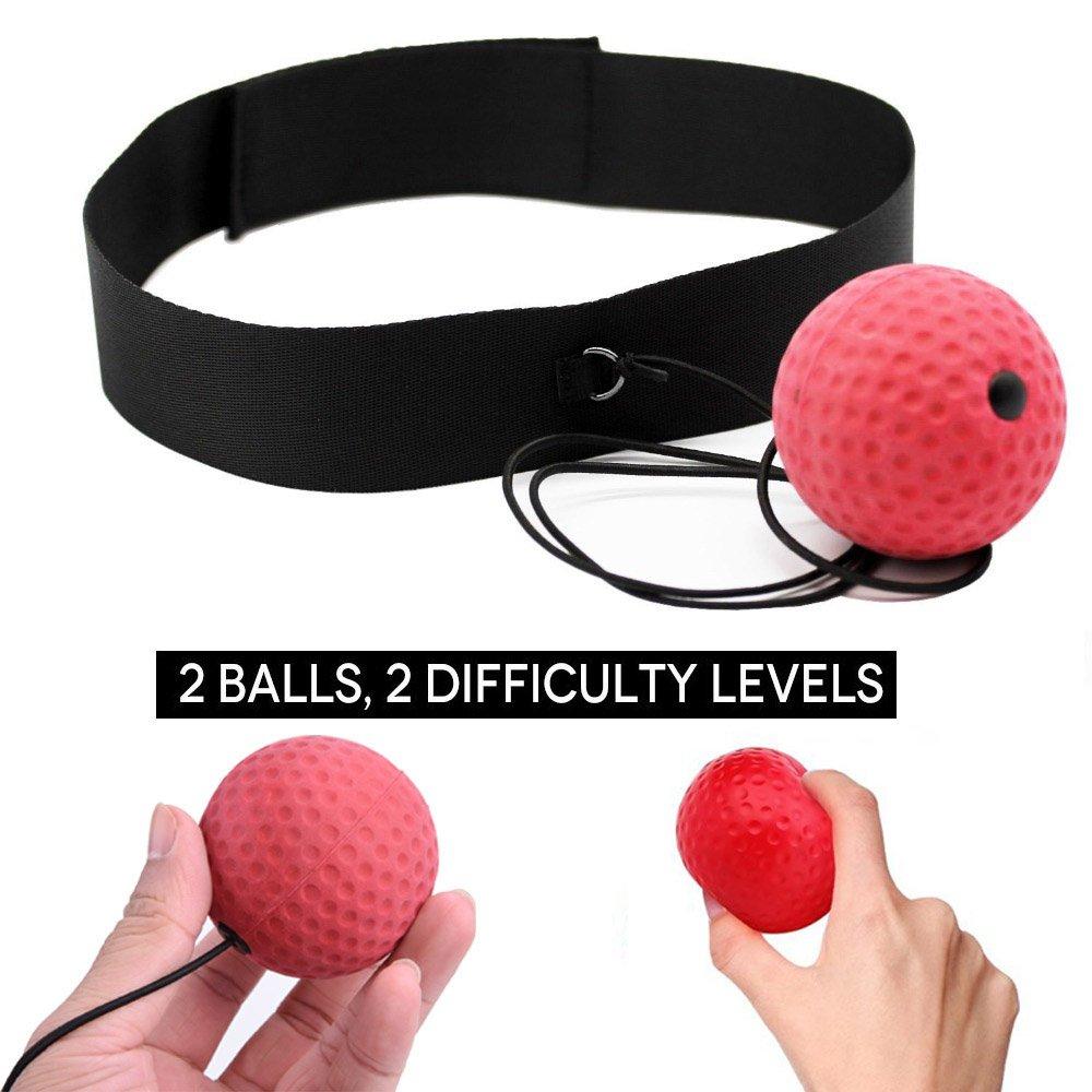 KWOW Box-Reflex-Ball, von 2-Ball (80g), 1(20g), novice Ball, schwer, ideal für Fitness, Cardio Training von professionellen, MMA, Boxen, UFC- und - Giga Technology
