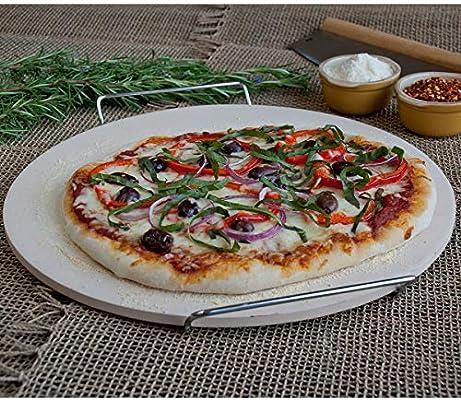 Piedra para Pizza Redonda de con Bastidor de Alambre de 38 cm ...