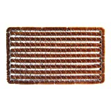 Entryways Rectangle Striped Wire Brush Bootscraper Doormat 16'' X 27''
