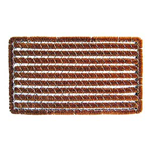 "Entryways Rectangle Striped Wire Brush Bootscraper Doormat 16"" X 27"""