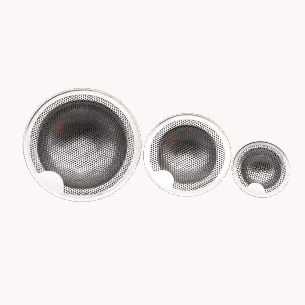 2 Piezas Filtro Fregadero,Filtro de Acero Inoxidable,Filtro de Drenaje,Filtro de Cocina,Filtro Tamiz,Filtro de Acero Inoxidable Filtro de Fregadero Para Fregadero Para Ducha 7.6 cm M Ba/ño o Cocina