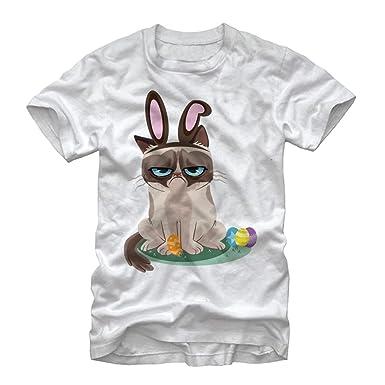 560e18902 Amazon.com: Grumpy Cat Men's Easter Bunny T-Shirt: Clothing