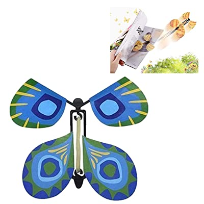 Creative Magic Props Flying Butterflies, Fun and Easy to Use for People of All Ages, Make a Lovely Bookmark While Flying (Green) : Office Products
