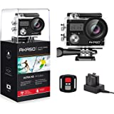 AKASO Brave 4 4K 20MP WiFi Action Camera Ultra HD with EIS 30m Underwater Waterproof Camera Remote Sports Camcorder with 2 Rechargeable 1050mAh Batteries and Helmet Accessories Kit