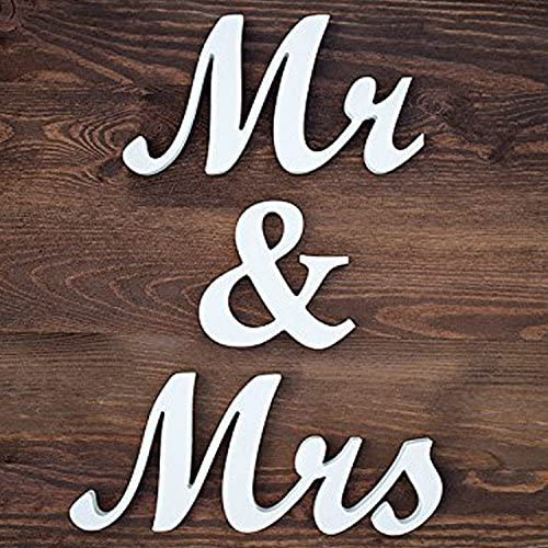Amazon.com: Jollylife letras de madera Mr/Mrs para ...