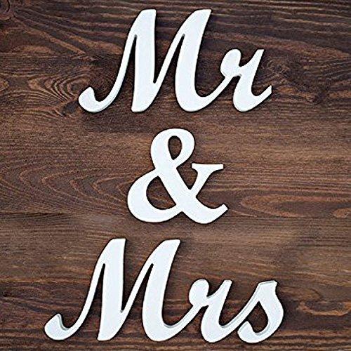 Mr & Mrs Letters (jollylife Vintage Affair MR & MRS White Wooden Letters Wedding)
