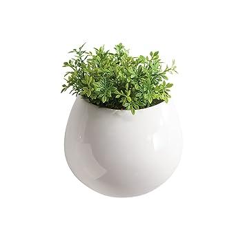 Amazon Torre Tagus 902042a Mod Pod Ceramic Wall Vase White
