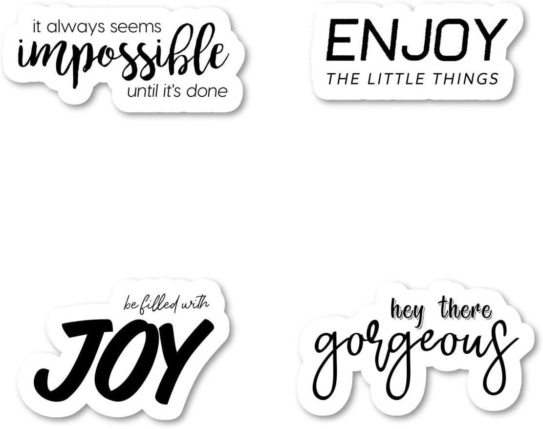Inspirational Quotes for Daily Life Sticker Pack Inspirational Stickers - 4 Pack - Sticker Vinyl Decal - Laptop, Phone, Tablet Vinyl Decal Sticker (4 Pack) S183159