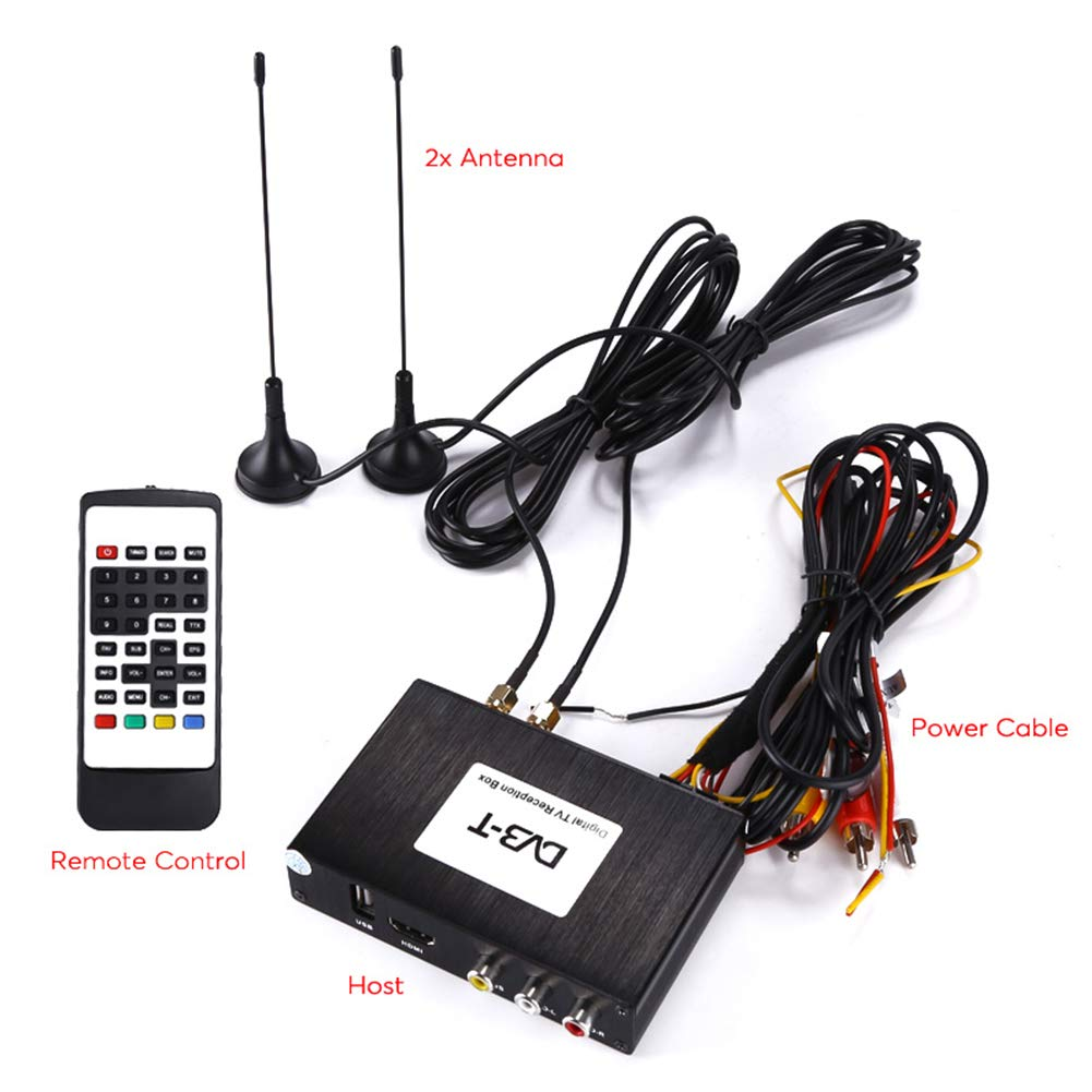 Zehui Digital TV Receiver Tuner Box Kit - Two Way Video Multi-Language Subtitle Support Dual Antenna 1080p Support Wide Frequency Range