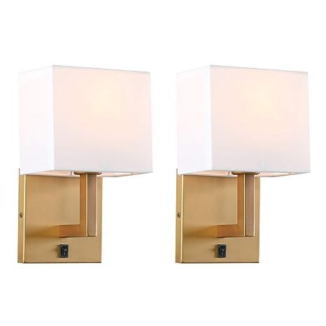 Amazon.com: Permo - Juego de 2 lámparas de pared con ...