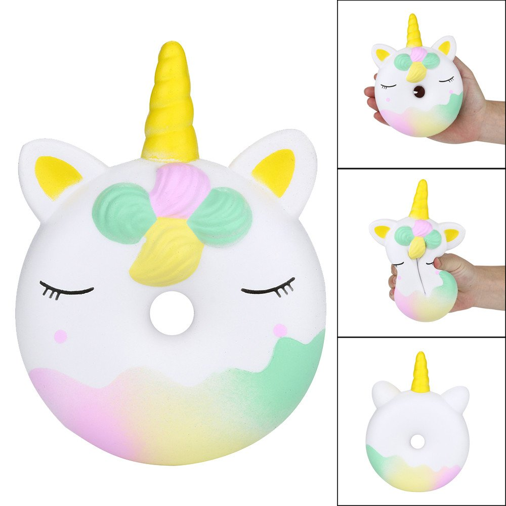 Choosebuy❤️ Squishies Jumbo 16cm Doughnut Head Scented Super Slow Rising Stress Relief Kawaii Toys Xmas Christmas Collection Gift (A)