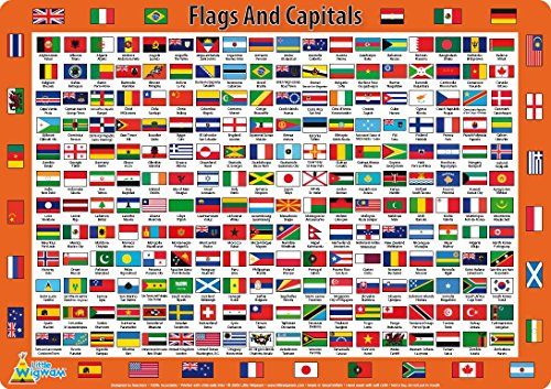 Little Wigwam Flags Capitals Placemat product image