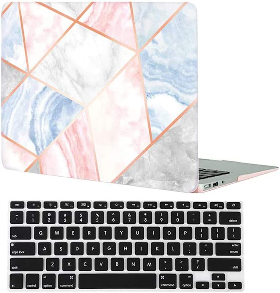 Velvet Caviar MacBook Air 13 inch Case Marble - Fits Model A1932 - Cute Protective Hard Cases with Keyboard Cover (Geometric Marble)