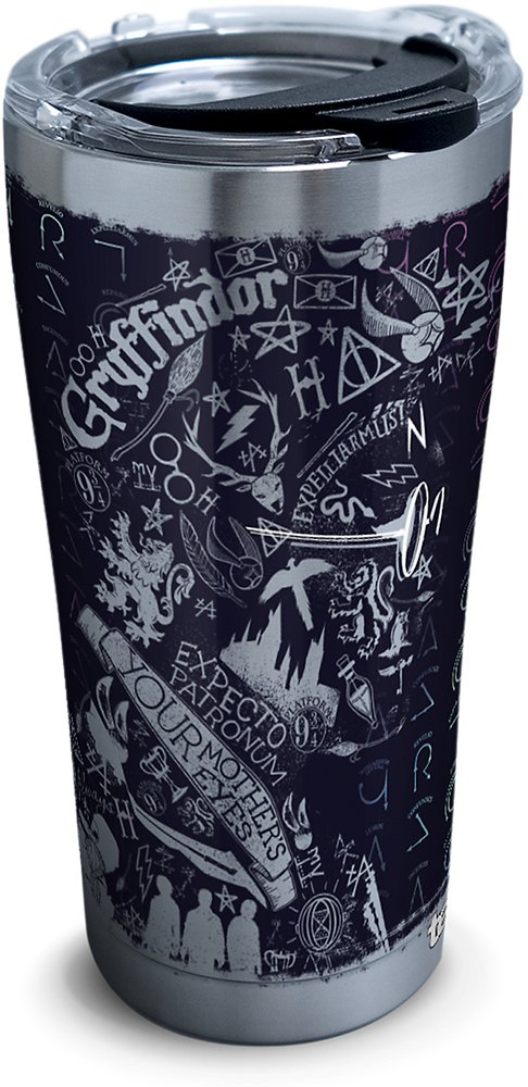Tervis 1295914 Harry Potter-20Th Anniversary Insulated Tumbler with Hammer Lid, 20 oz Stainless Steel, Silver by Tervis