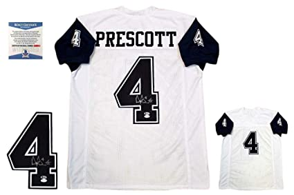 newest 0b629 40f3e Amazon.com: Dak Prescott Autographed Signed Jersey Signature ...