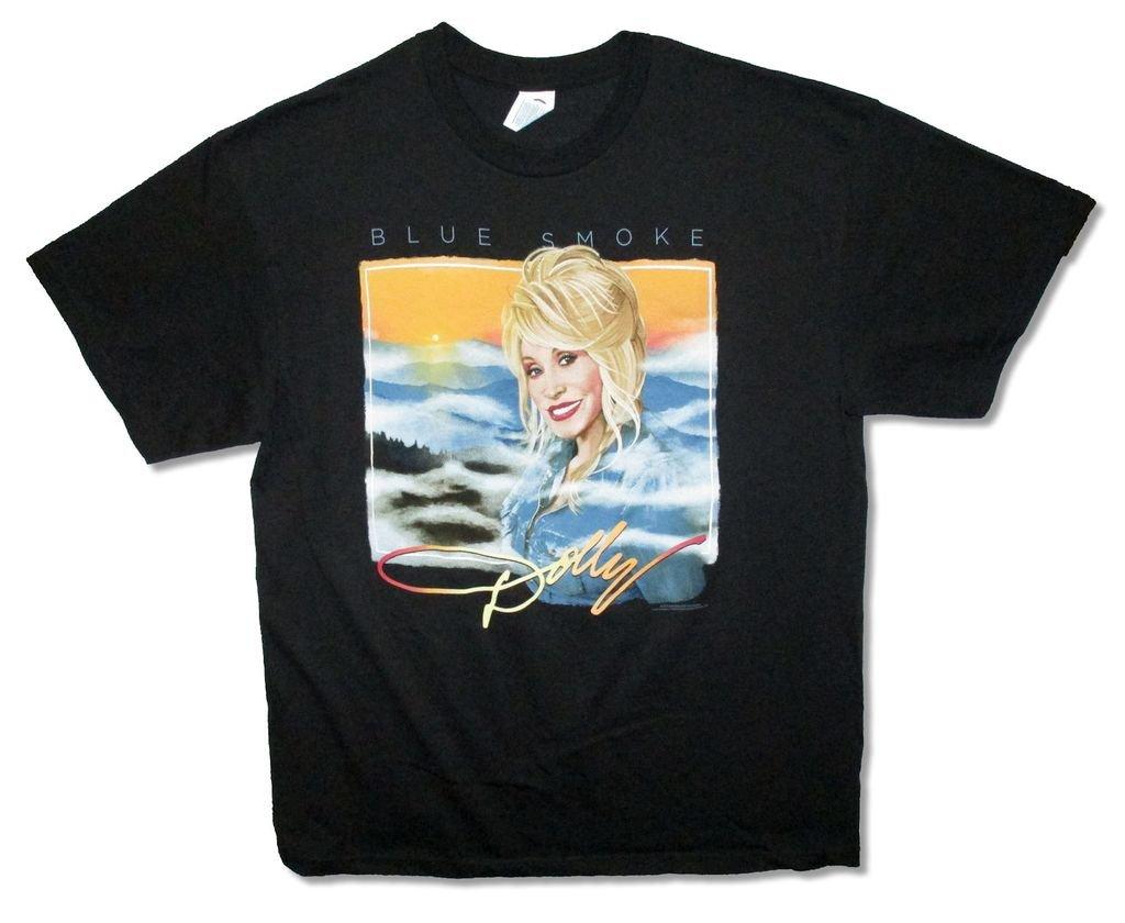 Dolly Pardon Blue Smoke Tour 14 S Black T Shirt