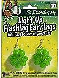 St. Patrick's Day Light Up Shamrock Earrings