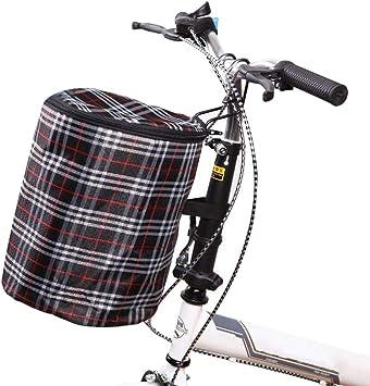 REYG Bike Basket Folding Bicycle Basket Anti-Rust Detachable Container Bike Accessory Cycling Baskets For Bike Electric Car,L