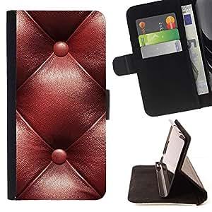 For HTC One A9 Case , Cuero del patrón de Brown Castaño- la tarjeta de Crédito Slots PU Funda de cuero Monedero caso cubierta de piel