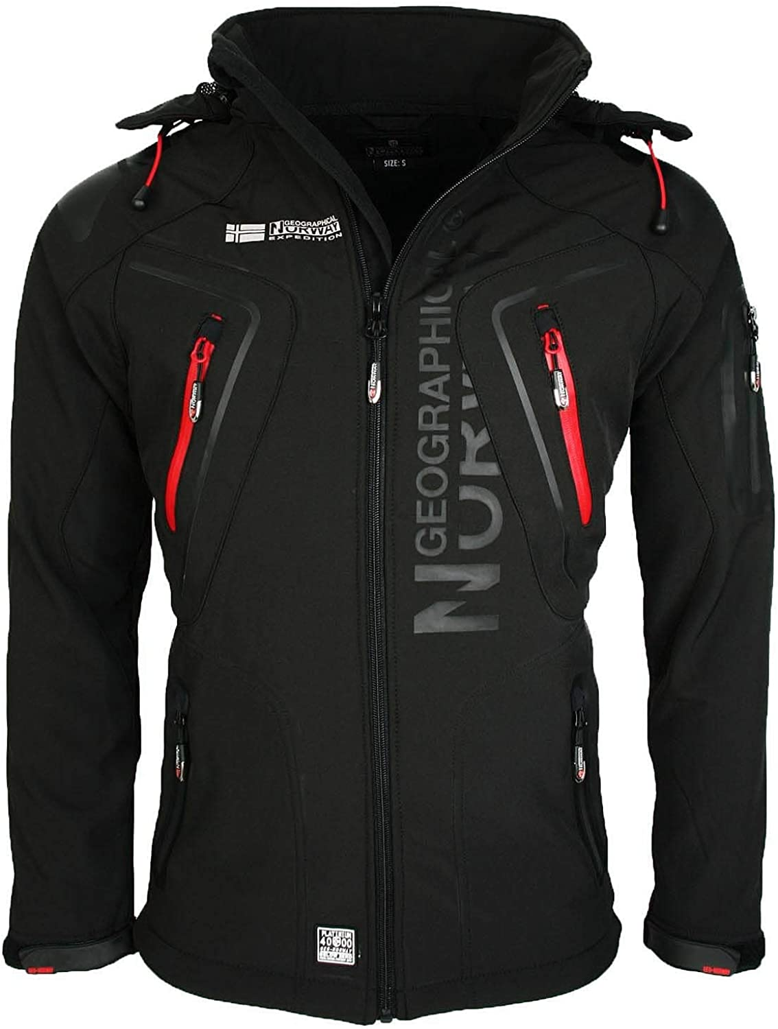 Geographical Norway Tambour Chaqueta Softshell Hombre - Negro, M