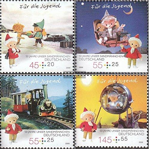 BRD (BR.Deutschland) 2748-2751 (kompl.Ausg.) 2009 50 Jahre Unser Sandmännchen (Briefmarken for collectors)