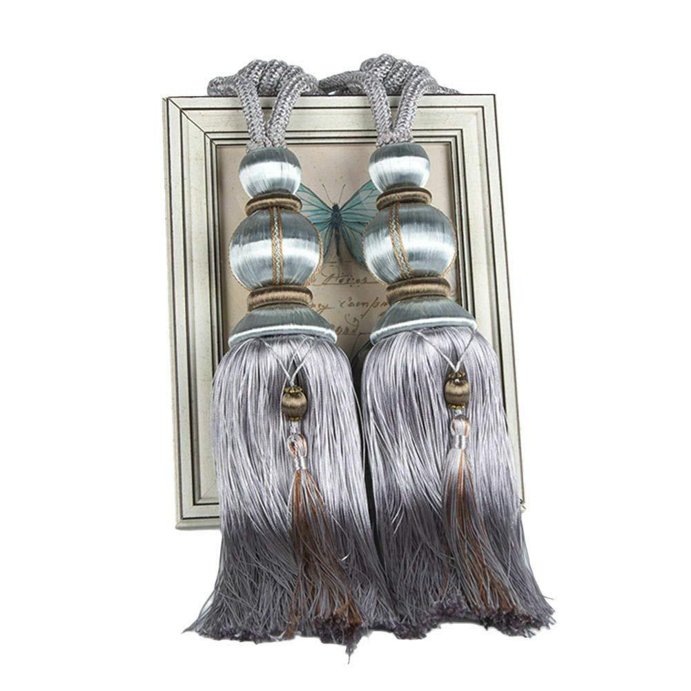 alzapa/ños de Cuerda Hechos a Mano con borlas para decoraci/ón de Ventanas del hogar ZHMF Sujetadores con Clip 1 par de Abrazaderas para Cortinas