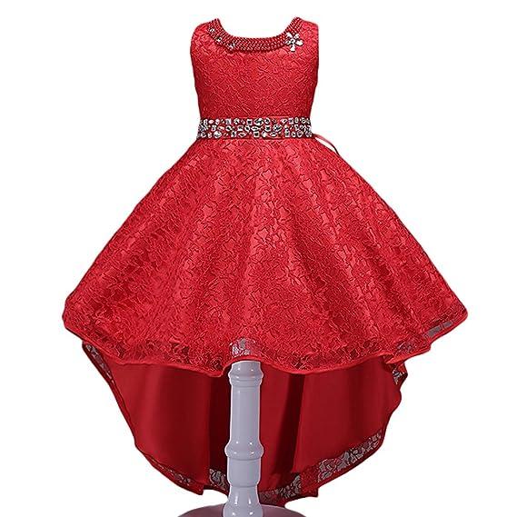 e3c0b70cac83a WanYang Les Enfants Gaze Robe Dentelle Fille Haut De Gamme Longueur  Irrégulière Jupe Costumes De Robe  Amazon.fr  Vêtements et accessoires