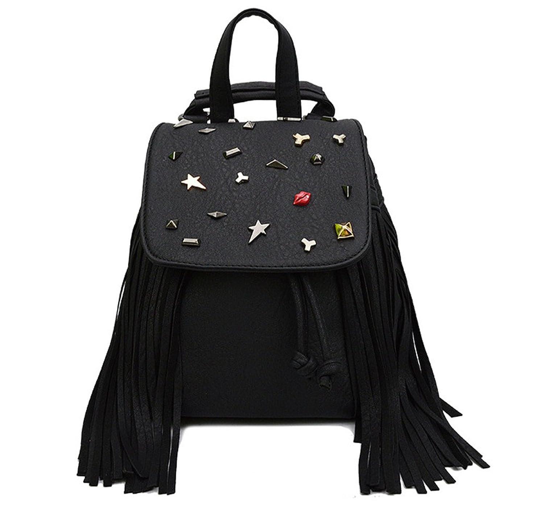 Alisa Betty Women's Rivets Shoulder Bag Backpacks School Bag