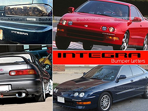 S.F. Products Chrome Front & Rear Bumper Letters for Acura Integra 1998 1999 2000 2001 Letter Inserts Not Decals